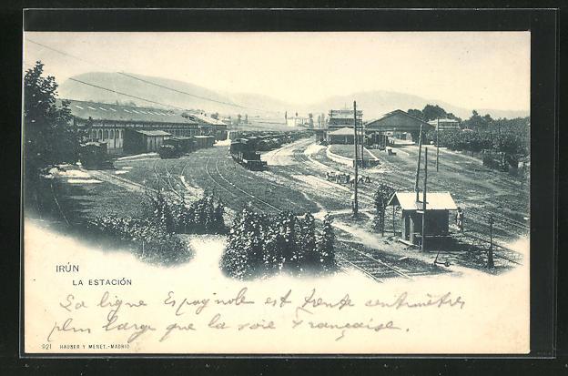 AK Irun, La Estacion, Bahnhof 0