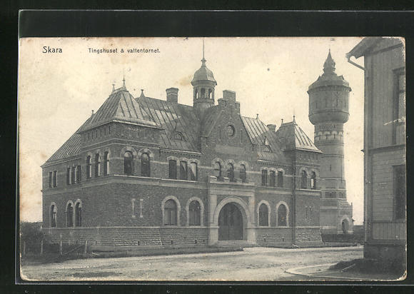 AK Skara, Tingshuset & vattentornet, Bahnhof 0