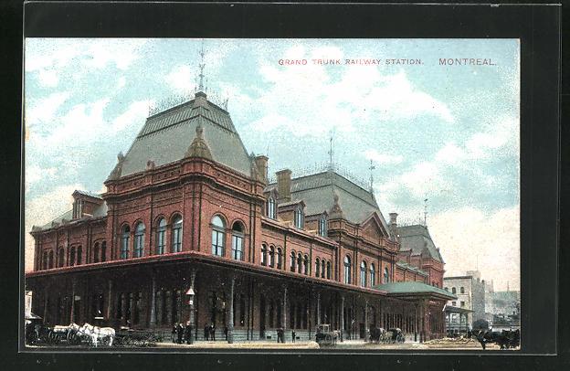 AK Montreal, Grand Trunk Railway Station, Bahnhof 0