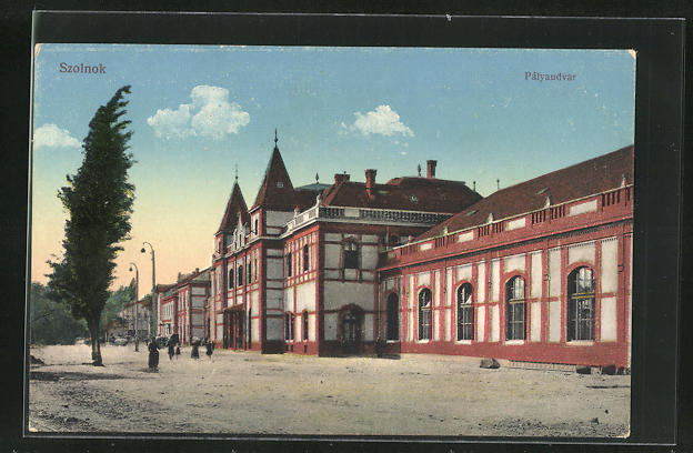 AK Szolnok, Palyaudvar, Bahnhof 0