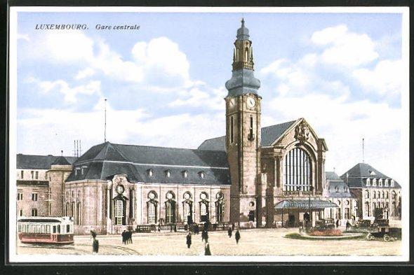 AK Luxembourg, Gare centrale, Bahnhof 0