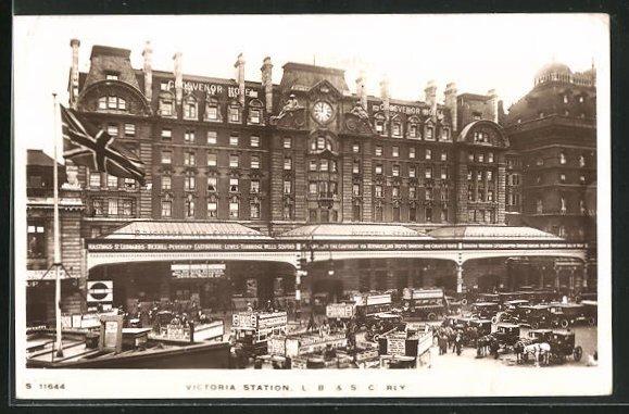 AK London, Victoria Station, L. B. & S. C. Rly, Bahnhof 0