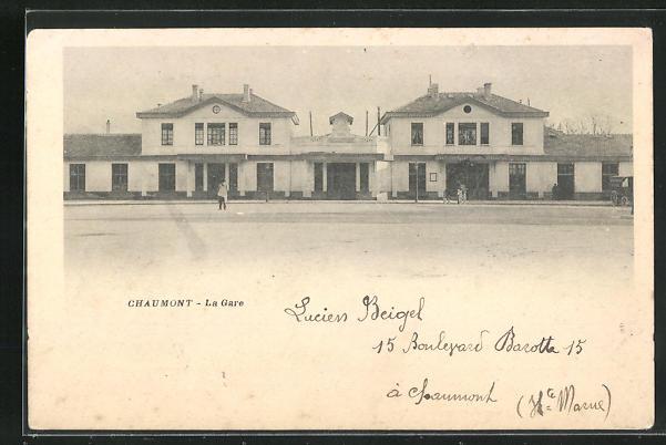 AK Chaumont, La Gare, Bahnhof 0