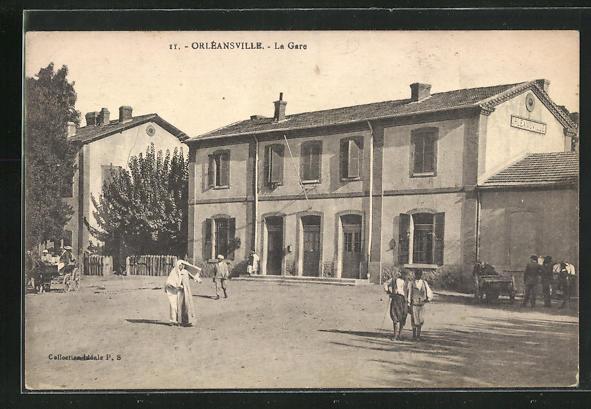 AK Orléansville, La Gare, Bahnhof 0