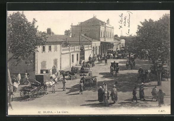 AK Blida, La Gare, Ansicht vom Bahnhof 0