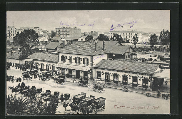 AK Tunis, La gare du Sud, Bahnhof 0