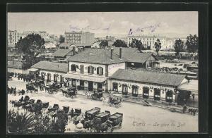 AK Tunis, La gare du Sud, Bahnhof