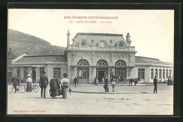 AK Gérardmer, La Gare, Bahnhof 0