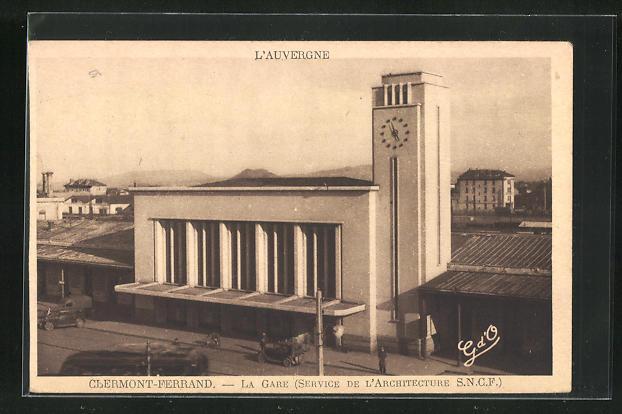 AK Clermont-Ferrand, La Gare, Bahnhof, Neubau, Architektur 0
