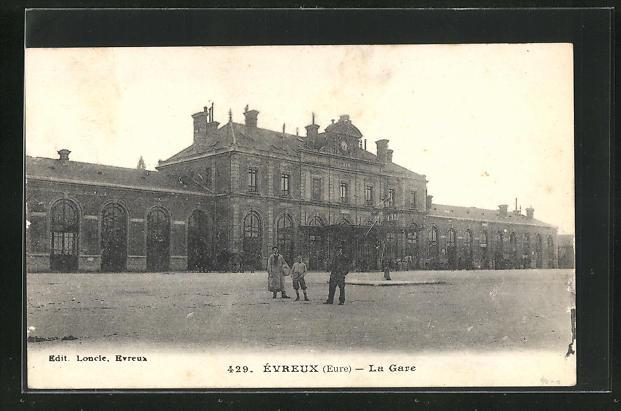AK Évreux, La Gare, Bahnhof 0