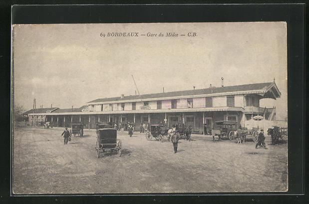 AK Bordeaux, Gare du Médoc, Bahnhof 0
