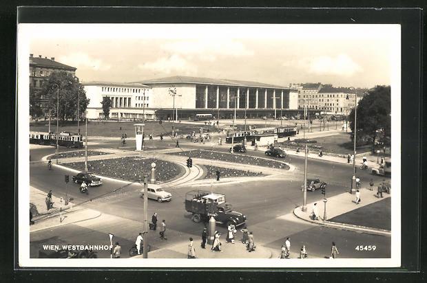 AK Wien, Westbahnhof, Panorama, Neubau 0