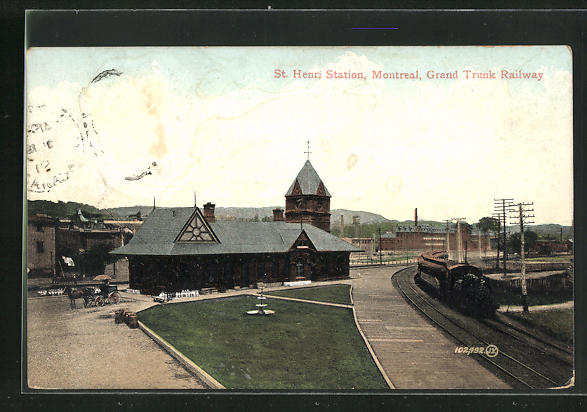 AK Montreal, St. Henri Station, Grand Trunk Railway, Bahnhof 0
