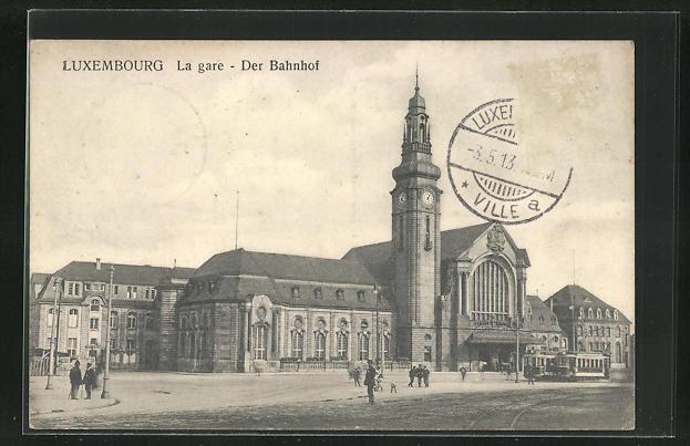 AK Luxembourg, La gare - der Bahnhof 0