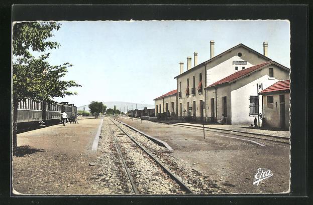 AK Djelfa, La Gare, Partie am Bahnhof 0