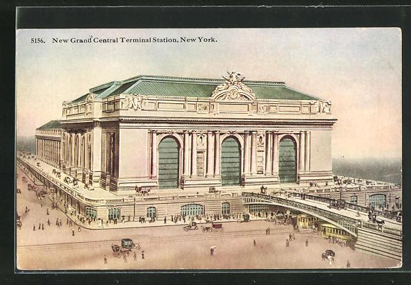 AK New York, NY, New Grand Central Terminal Station, Bahnhof 0