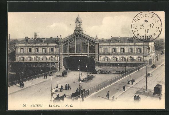 AK Amiens, La Gare, Blick auf den Bahnhof 0