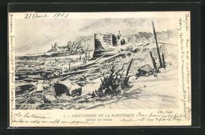 AK Saint-Pierre, Vulkanausbruch