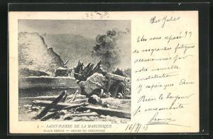 AK Saint-Pierre, Place Bertin-Restes du Sèmaphore, Vulkan