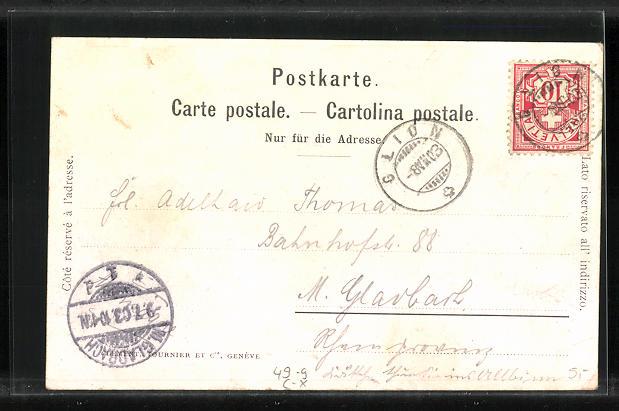 AK Caux, La Gare, Bergbahn 1