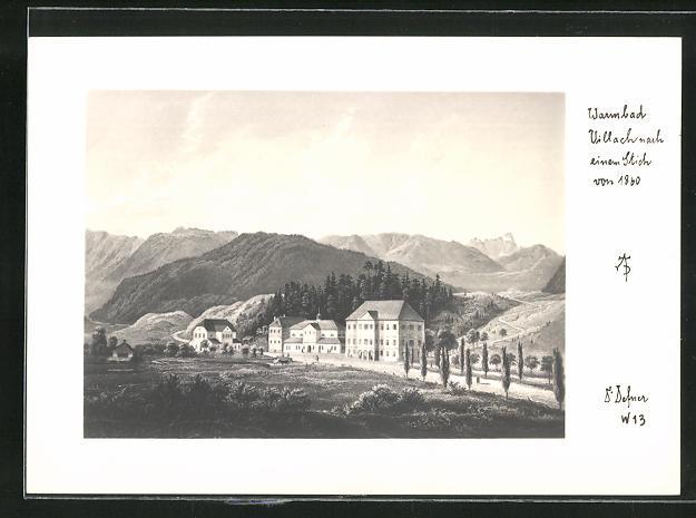 Foto-AK Adalbert Defner: Villach, Stadt nach einem Stich von 1860 0