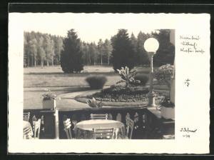 Foto-AK Adalbert Defner: Villach, Cafè-Terrasse im Warmbad