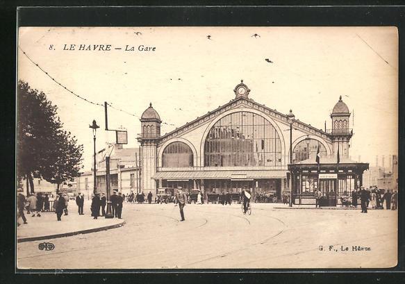 AK Le Havre, La Gare, Bahnhof 0
