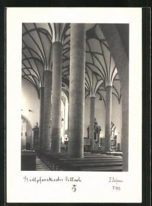 Foto-AK Adalbert Defner: Villach, Inneres der Stadtpfarrkirche
