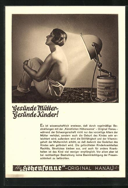 AK Reklame Höhensonne-Gesunde Mütter-gesunde Kinder, Medizin 0