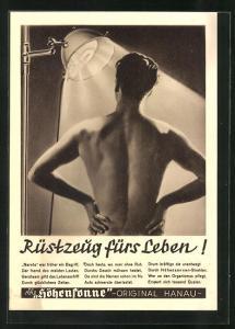 AK Reklame Höhensonne-Rüstzeug fürs Leben, Medizin
