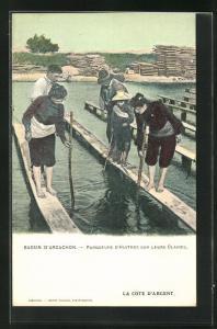 AK Bassin D`Arcachon, Parqueurs D`Huitres sur leurs Claires, Krebsfischer