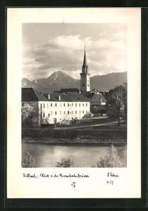 Foto-AK Adalbert Defner: Villach, Blick von der Eisenbahnbrücke