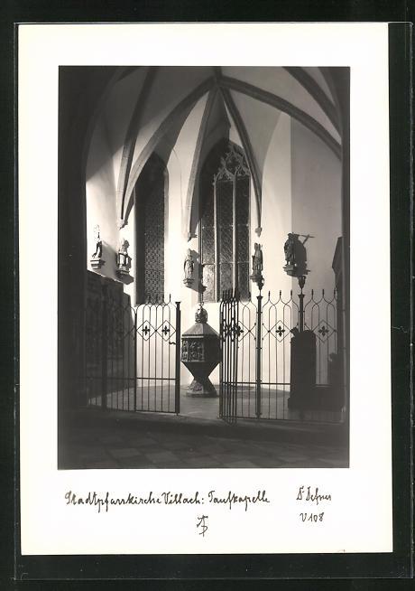 Foto-AK Adalbert Defner: Villach, Taufkapelle der Stadtpfarrkirche 0