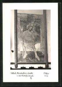 Foto-AK Adalbert Defner: Villach, Christophorusfreske in der Stadtpfarrkirche