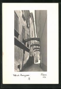 Foto-AK Adalbert Defner: Villach, Blick in die Burggasse