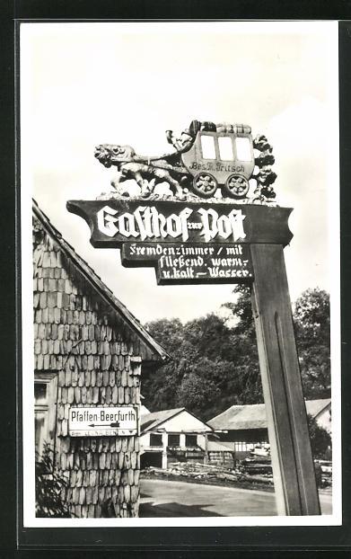 AK Beerfurth im Naturpark Odenwald, Wegweiser zum Gasthof-Pension zur Post 0