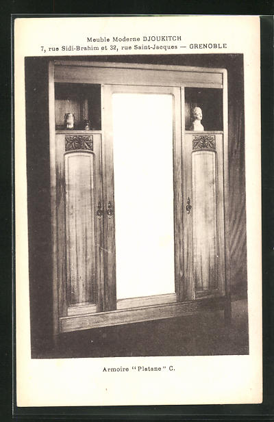 AK Grenoble, Armoire Platane-Meuble Moderne Djoukitch, Art Deco 0