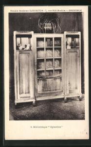 AK Grenoble, Bibliothèque Eglantines-Meuble Moderne Djoukitch, Art Deco