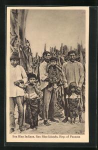 AK Panama, San Blas Indians, Indianer