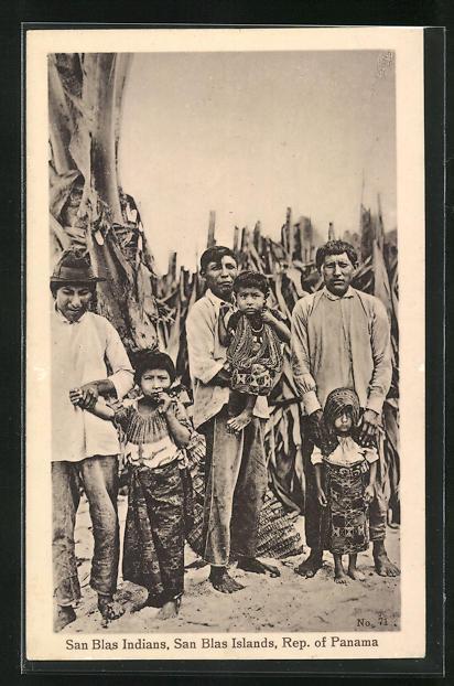 AK Panama, San Blas Indians, Indianer 0