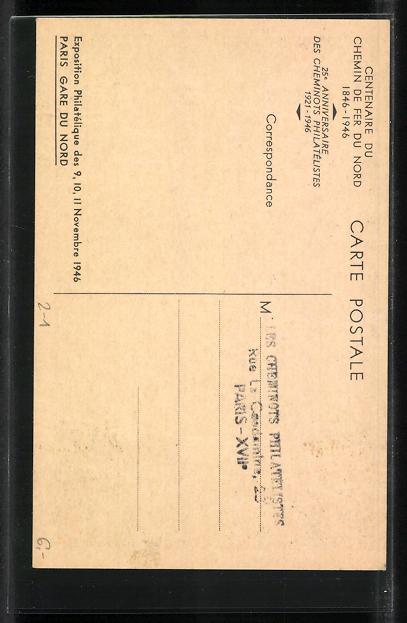 AK Paris, Gare du Nord, Ausstellung Philatelie 1946 1
