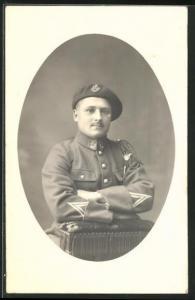 AK Soldat in Uniform eines Alpenjäger