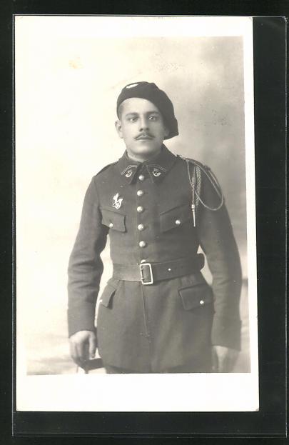 AK Soldat in der Uniform eines Alpenjäger 0