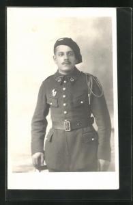 AK Soldat in der Uniform eines Alpenjäger