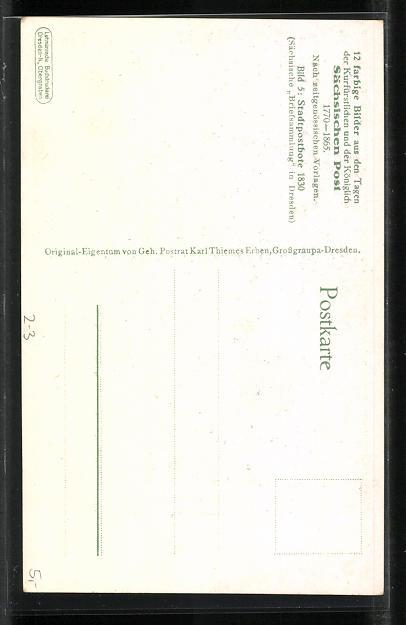 Künstler-AK Stadtpostbote 1830 mit Brief 1
