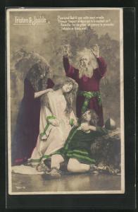 AK Sage Tristan & Isolde, Szene auf einer Bühne