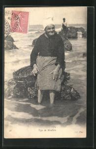 AK Muschelfischerin am Strand, Type de Moulière