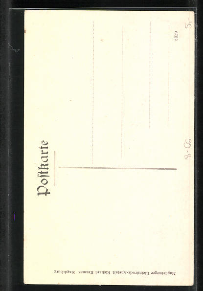 AK Komiker Karl Kuschel, Halbportrait mit grosser Blüte am Revers 1