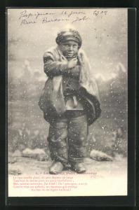 AK Junger Schornsteinfeger friert im Winter