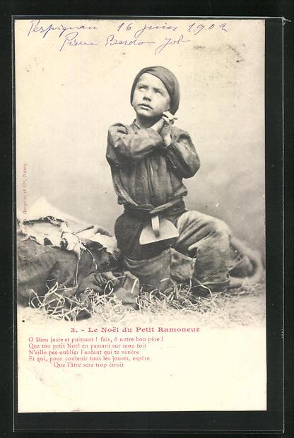AK Junger Schornsteinfeger faltet betend die Hände und blickt zum Himmel 0